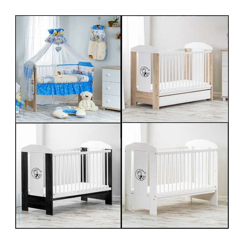 12-piece-bears-cot-with-drawer-mattress
