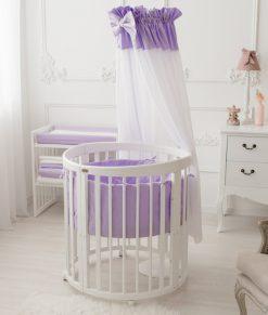 Otroška posteljica s posteljnino