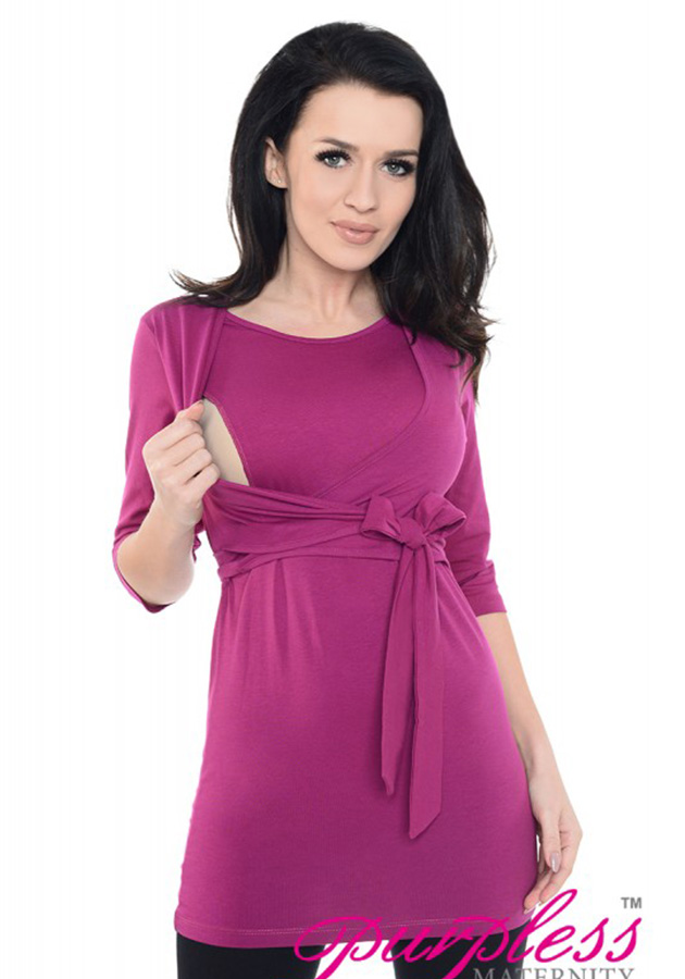 2in1-maternity-and-nursing-cotton-wrap-top-7735-dark-pink-(1)