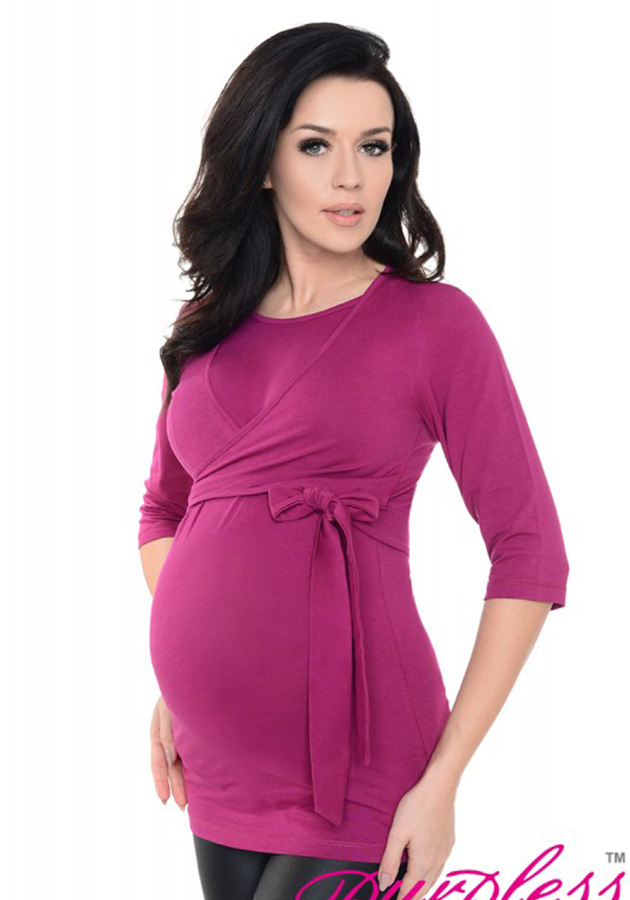 2in1-maternity-and-nursing-cotton-wrap-top-7735-dark-pink
