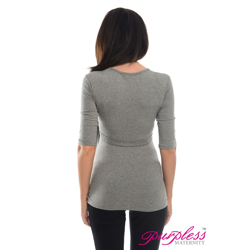 lovely-2in1-maternity-and-nursing-3-4-sleeved-wrap-top-7035-dark-gray-melange (3)