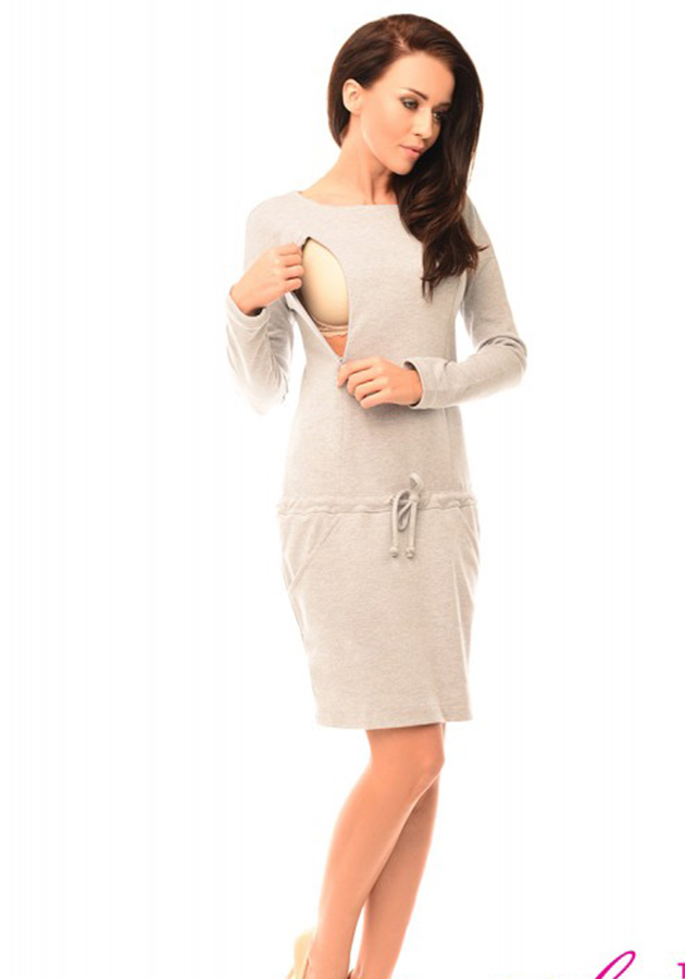 pregnancy-and-nursing-front-tie-dress-with-pockets-6204-light-gray-melange-(1)