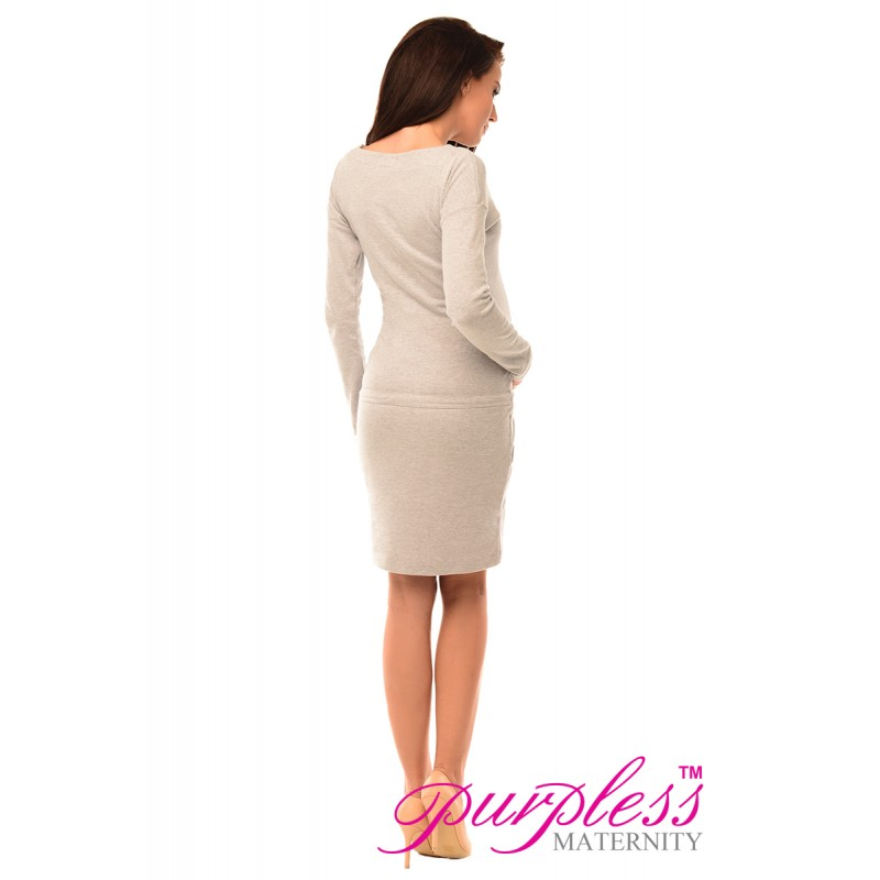 pregnancy-and-nursing-front-tie-dress-with-pockets-6204-light-gray-melange (3)