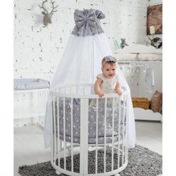 Otroška posteljica z baldahinom